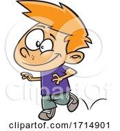 Cartoon Boy Hopping