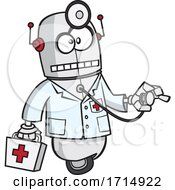 Cartoon First Aid Robot
