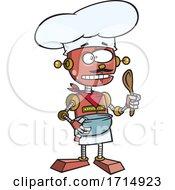 Poster, Art Print Of Cartoon Robot Chef