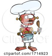 Cartoon Robot Chef