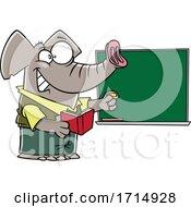 Poster, Art Print Of Cartoon Teacher Elephant