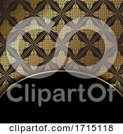 Elegant Pattern Background In Gold And Black