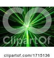 3D Hyperspace Zoom Effect Digital Background