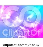3D Low Poly Plexus Design With Bright Colours