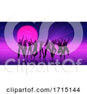 Poster, Art Print Of Retro Themed Party People Banner Design