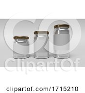 Set Of Glass Jars For Canning And Preserving