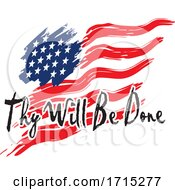 American Flag with Thy Will Be Done Text by Johnny Sajem #COLLC1715277-0090