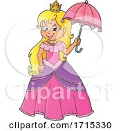 Princess Holding An Umbrella by visekart