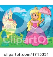 Princess Holding an Umbrella by visekart #COLLC1715331-0161