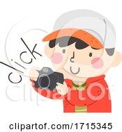 Kid Boy Camera Sound Click Illustration