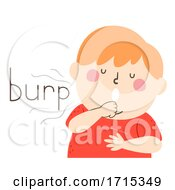Kid Boy Onomatopoeia Sound Burp Illustration