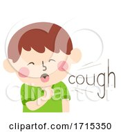Kid Boy Onomatopoeia Sound Cough Illustration