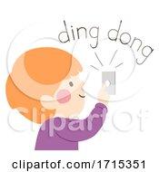 Kid Boy Onomatopoeia Sound Ding Dong Illustration
