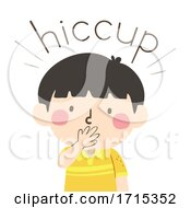 Kid Boy Onomatopoeia Sound Hiccup Illustration