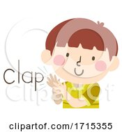 Poster, Art Print Of Kid Boy Sound Clap Illustration