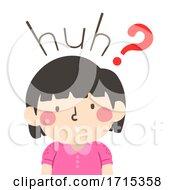 Kid Girl Onomatopoeia Sound Huh Illustration