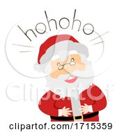 Santa Onomatopoeia Sound Hohoho Illustration