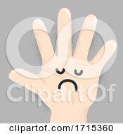 Poster, Art Print Of Hand Kid Doodle Sad Illustration