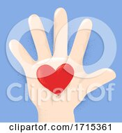 Poster, Art Print Of Hand Kid Heart Illustration