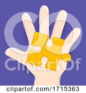 Poster, Art Print Of Hand Kid Puzzle Piece Illustration