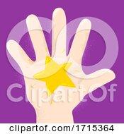 Hand Kid Star Illustration