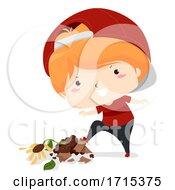 Kid Boy Adjective Bad Illustration