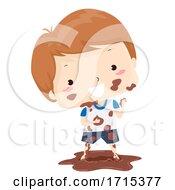 Poster, Art Print Of Kid Boy Adjective Dirty Illustration