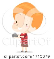 Kid Boy Adjective Hard Illustration