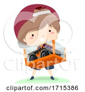 Poster, Art Print Of Kid Boy Adjective New Illustration
