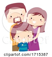 Poster, Art Print Of Kid Boy Adjective Only Family Child Illustration