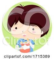 Poster, Art Print Of Kid Boy Adjective Salty Illustration
