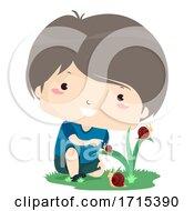 Kid Boy Adjective Small Illustration