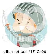 Kid Boy Personality Adjective Brave Illustration