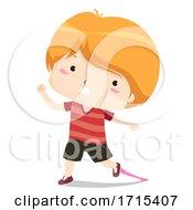Kid Sticky Bubble Gum Adjective Sense Illustration