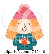 Kid Girl Hot Choco Illustration