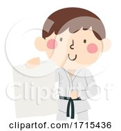 Kid Boy Martial Arts Blank Flyer Illustration