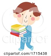 Kid Boy Pajama Books Illustration