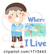Poster, Art Print Of Kid Boy Where Live Lessons Illustration