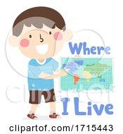 Kid Boy Where Live Lessons Illustration