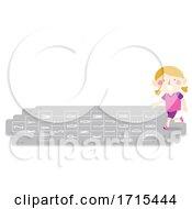 Poster, Art Print Of Kid Girl Alphabet Hopscotch Illustration