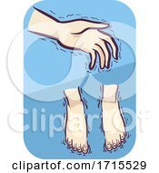 Symptoms Cold Hands And Feet Illustration