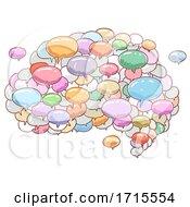 Speech Bubble Brain Illustration