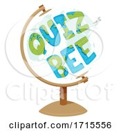 Poster, Art Print Of Globe Quiz Bee Social Studies Illustration