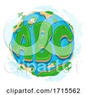 Earth ABC Island Illustration