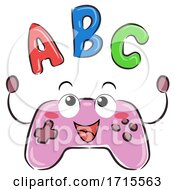 Mascot Video Game Controller ABC Illustration