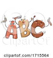 Poster, Art Print Of Mascot Abc Woodworking Illustration
