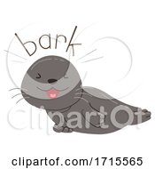 Seal Onomatopoeia Sound Bark Illustration