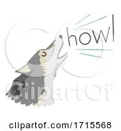 Wolf Onomatopoeia Sound Howl Illustration