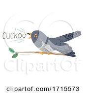 Cuckoo Bird Onomatopoeia Sound Cuckoo Illustration