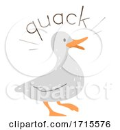 Duck Onomatopoeia Sound Quack Illustration